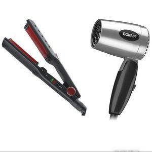 Conair Hair Bundle Hair Dryer Hot Straightener